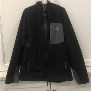 Boys north face fleece coat with hood